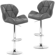 Jonor Faux Leather Adjustable Barstools (Set of 2)