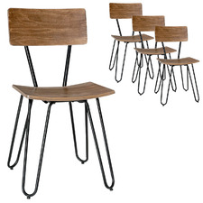 Rami Industrial Dining Chairs (Set of 4)