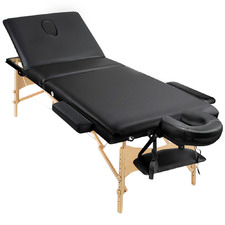 Black Zensor Triple Fold Massage Table