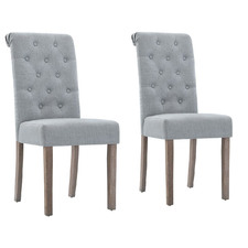 Light Grey Tondo High Back Dining Chairs (Set of 2)