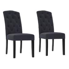 Dark Grey Tondo High Back Dining Chairs (Set of 2)