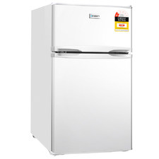 White Devanti 127L Mini Fridge Freezer