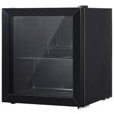 Black Devanti 46L Glass Door Mini Fridge