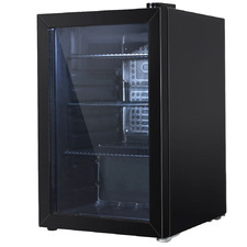 Black Devanti 70L Glass Door Mini Fridge