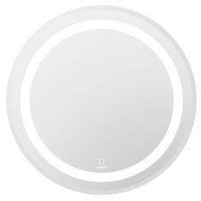 Silver Devanti Round LED Bathroom Wall Mirror