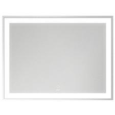 90cm Silver Devanti LED Bathroom Wall Mirror
