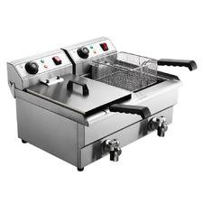 Silver Devanti Twin Electric Deep Fryer