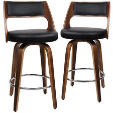 76cm Sandra Faux Leather Barstools (Set of 2)
