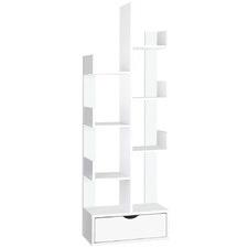 White Bianca 6 Tier Bookshelf