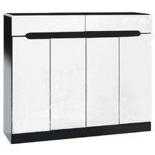 White & Black Lucas Shoe Cabinet