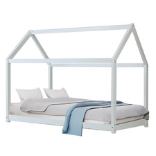 Rhoda Wooden Single Canopy Bed Frame