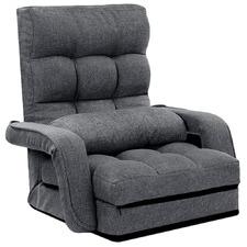 Grey Nova Adjustable Floor Lounge Chair