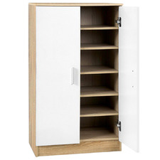 White & Natural Archer Shoe Cabinet