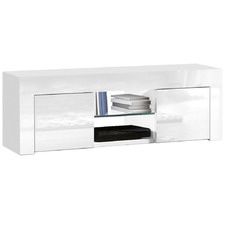 White Alana High Gloss Entertainment Unit