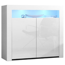 White Sarina High Gloss LED Buffet