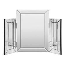 Silver Parisa Tri-Fold Vanity Mirror