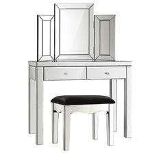Silver Parisa Dressing Table & Stool Set