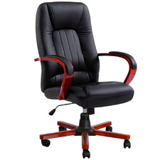 Black & Red Signy Faux Leather Executive Chair