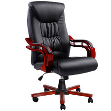 Black & Red Antelmo Faux Leather Executive Chair