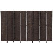 8 Panel Benicio Rattan Room Divider