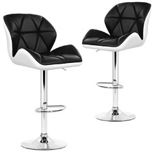 Vedran Faux Leather Adjustable Barstools (Set of 2)