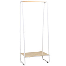 Natural & White Alaric Clothes Rack