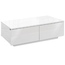 White Alana High Gloss Coffee Table with Storage