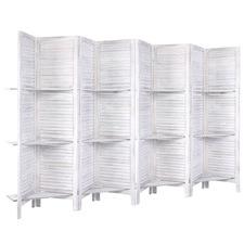 8 Panel Yashna Wooden Room Divider with Shelves