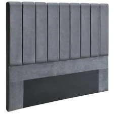 Grey Kelsey Double Velvet Headboard