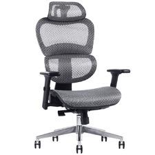 Grey Baldwin Mesh Adjustable Office Chair