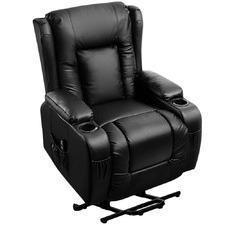 Black Bristol Faux Leather Recliner Massage Chair