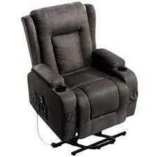 Grey Bristol Suede Recliner Massage Chair