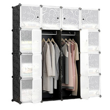 16 Cube Stackable Storage Cabinet