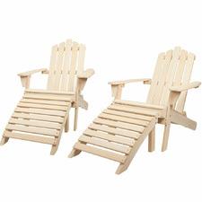 Ocordion Outdoor Sun Lounges (Set of 2)