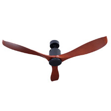 142cm Red Wood Ceiling Fan