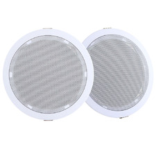 80W White Ceiling Speakers (Set of 2)