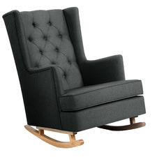 Charcoal Olimpia Convertible Rocking Armchair