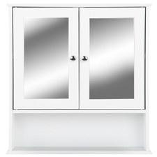 White Sutton Bathroom Mirror Cabinet