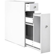 White Mitchell Bathroom Storage Caddy