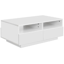 White Porzia High Gloss 4 Drawer Coffee Table