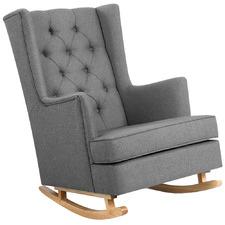 Olimpia Linen Convertible Rocking Armchair