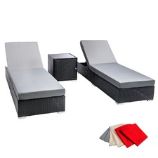 3 Piece Bilbao Outdoor PE Rattan Lounge Set
