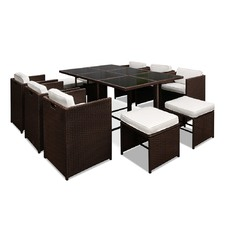 Brown & White Capetown Dining 10 Seater Set