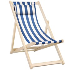 Foldable Stripes Beach Sling Chair
