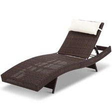 Adjustable Billie Outdoor Wicker Sun Lounge