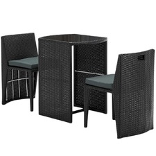 2 Seater PE Wicker Outdoor Table & Chair Set