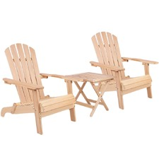 2 Seater Wooden Outdoor Table & Chair Set