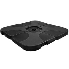 4 Piece Black Umbrella Base Set