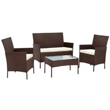 4 Seater Gardeon Rattan Outdoor Chair & Table Set