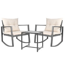 2 Seater Harrien Outdoor Rocking Chair & Table Set